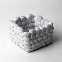 Nicole Concrete Flowerpot Silicone Mold Cobblestone Design Concrete Planter Vase Molds Bonsai Decoration Tools