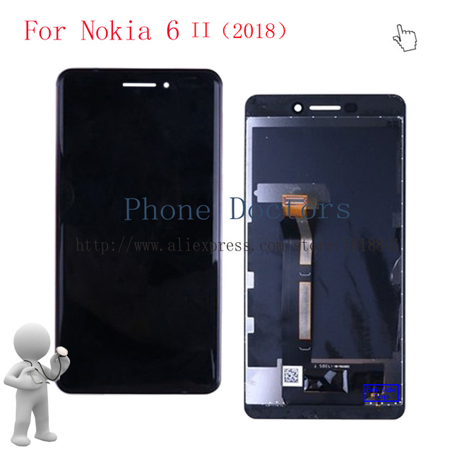 5.5 ''עבור Nokia 6 2018 מלא LCD תצוגה + מסך מגע Digitizer עצרת עבור Nokia 6 II 2018 TA -1045 TA-1050 LCD