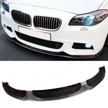 H Stil Carbon fiber Front Bumper Lip Spoiler Fit Für BMW 5-Serie 535i F10 F18 M-Tech