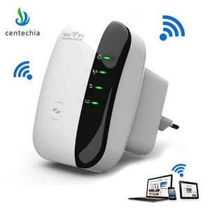 Centechia 300 Mbps Wireless Wifi Repeater 2018 Range Expander Signal Booster Extender