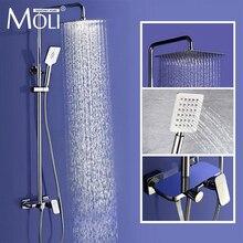 Настенный дождь Душ роскошные площади душем 8 «10» 12 «набор для душа с ручной душ