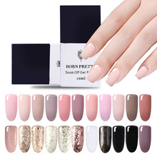 Born Pretty 6ml/10ml Nail Glue Gel Polish 1 Bottle  Series Soak Off Glitter UV Builder Manicure Art