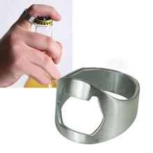 Stainless Steel Cool Finger Thumb Ring Beer Bottle Opener Tool Bar Home Gadget S