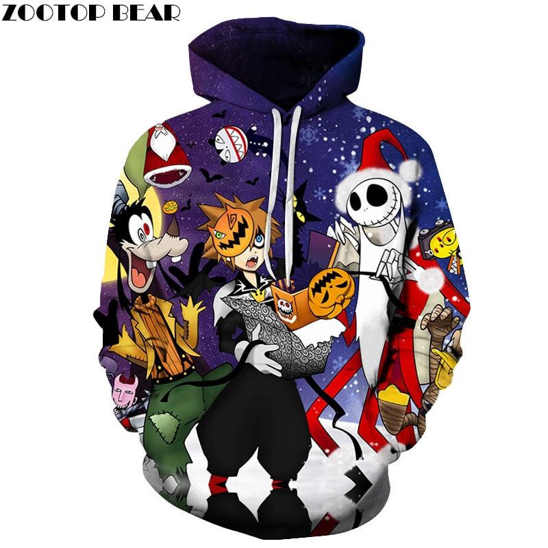 Halloween 3D Printed Hoodie Mens Hoodies Fall Autumn Hoody Sweatshirt Tracksuit 2018 Cloth Drop Ship ZOOTOP BEAR