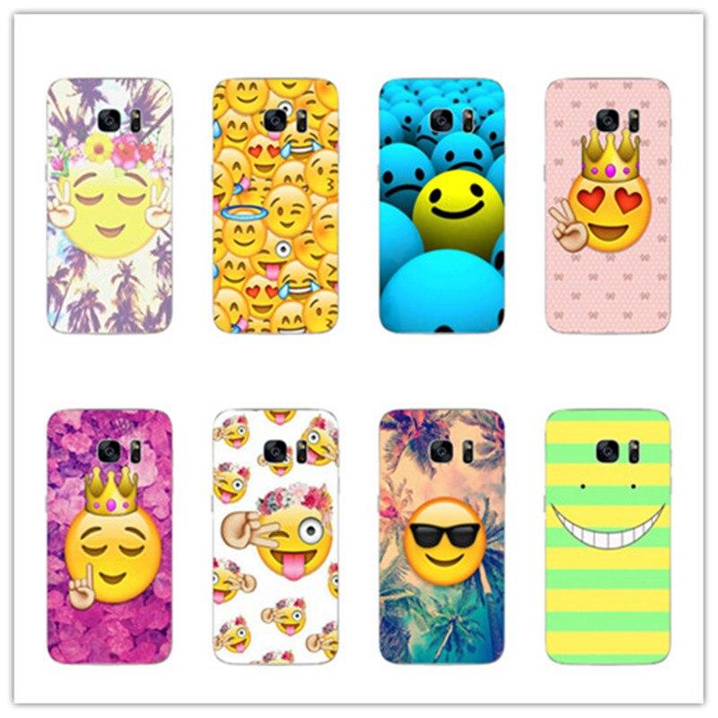 Smile Emoticon symbol Pattern cover case For Samsung Galaxy S8 S8 plus A5 A7 2016 A520 A520F A5200 A720 2017 phone cases