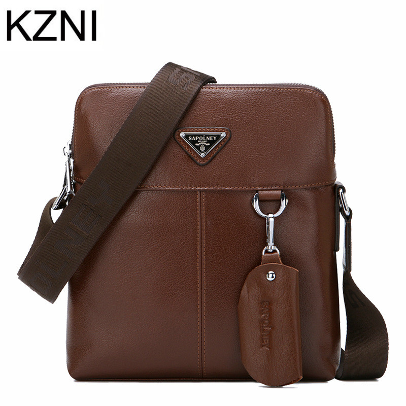 ФОТО KZNI bags Men designer handbags high quality genuine leather bags for Men bolsas femininas bolsas de marcas famosas L031501