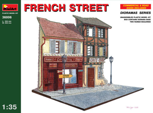 Out of print! MINIART 36006 - 1/35 FRENCH STREET DIORAMA