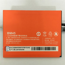Original Battery BM45 For Xiaomi RedMi Note 2 Red Rice Hongmi Note2 Bateria Replacement Lithium Battery 3060mAh 2018 Hot(China)