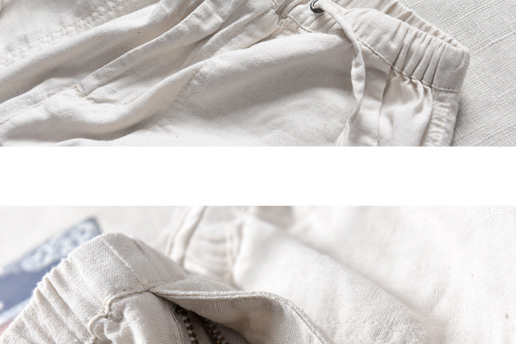 HTB1UcBSXELrK1Rjy0Fjq6zYXFXav Spring And Summer Men Fashion Brand Chinese Style Cotton Linen Loose Pants Male Casual Simple Thin White Straight Pants Trousers