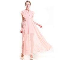 2018 Sexy Women Boho Maxi Club Dress Evening Party Long Dresses Womens Chiffon Dress Elegant Ruffled