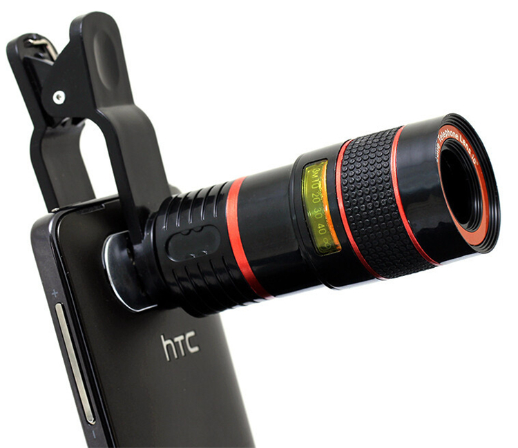 Universal 8X Zoom Telephoto Lenses Optical Telescope Mobile Phone Camera Lens With Clips For Samsung Galaxy S3 S4 S5 S6 S7