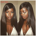 New 4x4 Glueless Silk Top Full Lace Wigs Yaki Straight Brazilian Full Lace Human Hair Silk Base Wig Italian Yaki Lace Front Wig