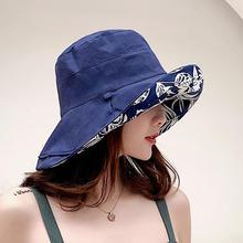 SUOGRY Women Sun Hat Design Double sided Bucket Maple Leaves Hats Fisherman Summer Beach Leisure Panama