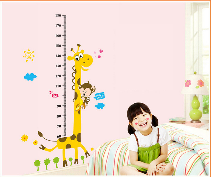 Cute deer decoration lovely home DIY Art Wall Home Decor Style decal belong Own mural,Warm home Measuring child height