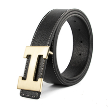 Luxury Solid Fashion H Smooth Buckle Waist Casual Shape Belt For Men Riem Cinto Feminino Ceinture Femme Cinturon Mujer Harajuku