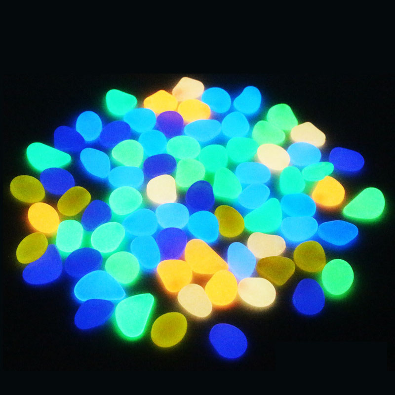 50Pcs Glow in the Dark Garden Pebbles Glow Stones Rocks For Walkways Garden Path Patio Lawn Yard Decor Luminous Stones Jardin