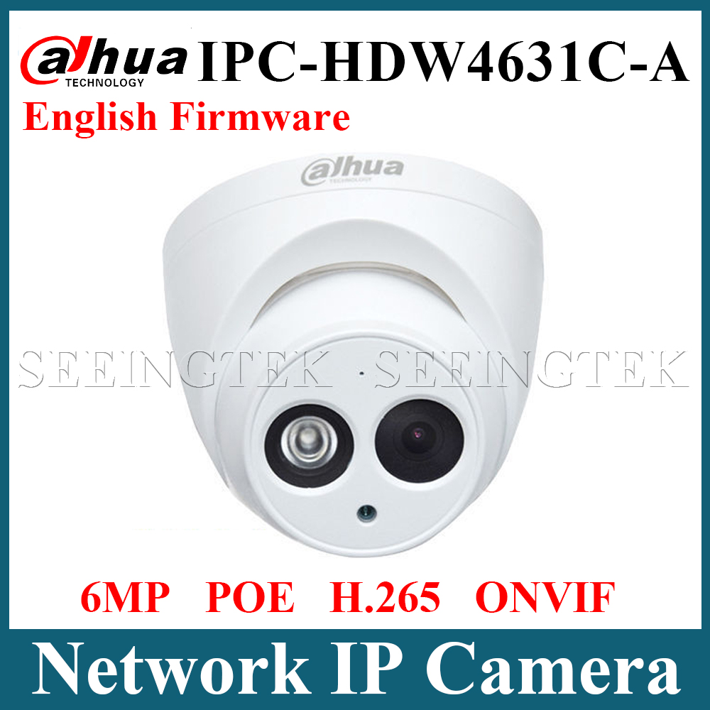 Dahua IPC-HDW4631C-A 6MP IP Camera POE Network Camera With Built-in Mic Upgrade Model of 4MP Camera dahua 6mp ip camera ipc hdw4631c a poe network camera with built in micro upgrade model of 4mp camera ipc hdw4431c a
