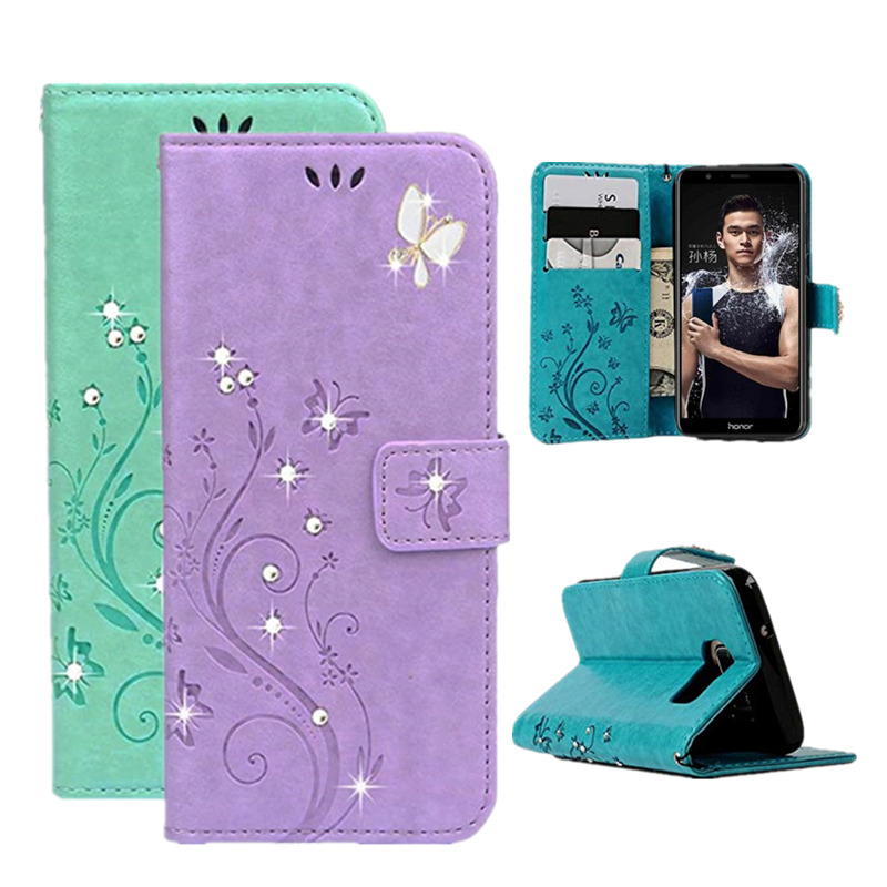 Cellphones & Telecommunications Honor 10 Jewelled For Huawei Honor 10 5.84 Honor10 2018 Flip Leather Case 3d Bling Painting Wallet Protection Phone Cover Funda