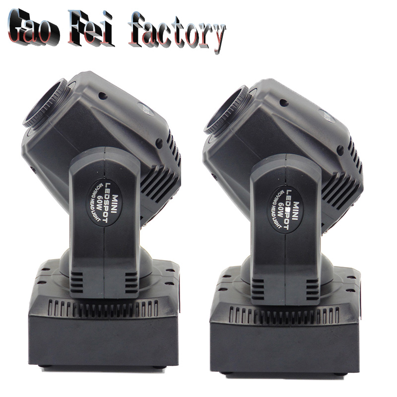 2 Pcs new arrive 60W led spot moving head beam light disco dj DMX512 professional stage gobo effect projector2 Pcs new arrive 60W led spot moving head beam light disco dj DMX512 professional stage gobo effect projector