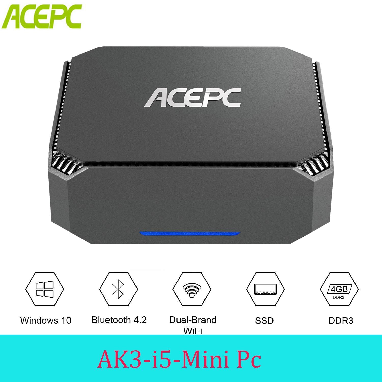 ACEPC CK3 Intel Core i5 4200U Mini PC Windows 10 Pro ordinateur 1.6 GHZ WIFI2.4G & 5G HDMI DP VGA PC Mini pour le jeu