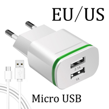EU US Plug 2 Ports LED Light Charger For Huawei Honor 4C 5 C