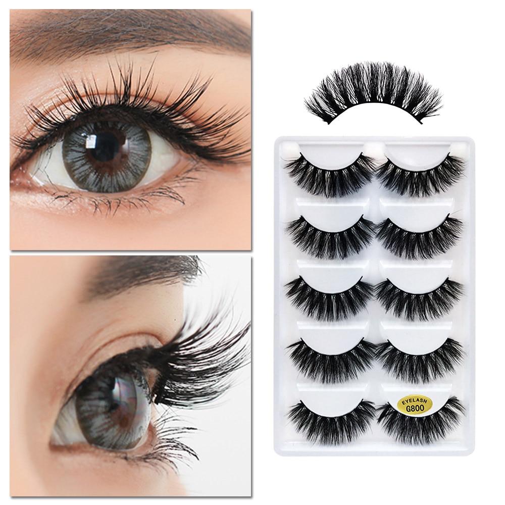 lashes eyelashes false eye natural eyelash strip 3d fake makeup reusable invisible band thick pairs beauty eyes eyeliner shidishangpin 5cm