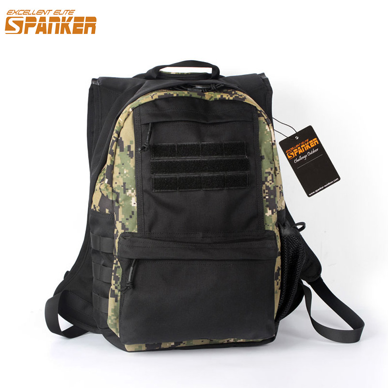 EXCELLENT ELITE SPANKER Military Hiking Removable Hoodie Backpack Tactical Camouflage Bag Waterproof Outdoor Travel Backpack excellent elite spanker outdoor military waterproof travel backpack army tactical hiking nylon bag molle hunting sport backpack