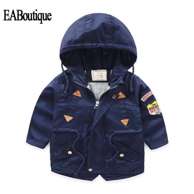 f5e159199 EABoutique New winter jacket for boy hooded down children outerwear plus  velvet warm coat for 2-7 year S910