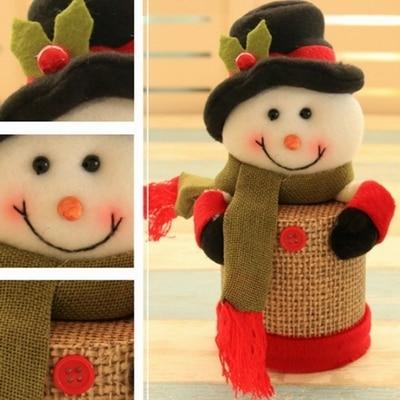 Snowman Plastic christmas ornament storage boxes 5c64fa35232c5
