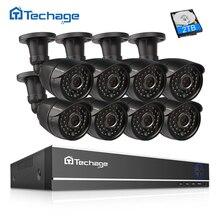 Techage 8CH 1080 P AHD камера видеонаблюдения системы 2.0MP HD ИК Ночное Видение наружного видеонаблюдения камера P2P товары теле и комплект 2 ТБ HDD