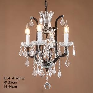 Image 2 - Loft Retro Vintage Grote Kristallen Kroonluchters Lustre Moderne Opknoping Lamp E14 LED 110V 220V Verlichting Voor Keuken Woonkamer kamer Slaapkamer