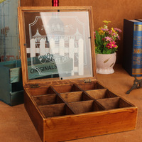 Multi function Wood Storage Boxes Retro Wooden Boxes Jewelry Cosmetic Case Antique Storage Box For Garden Household