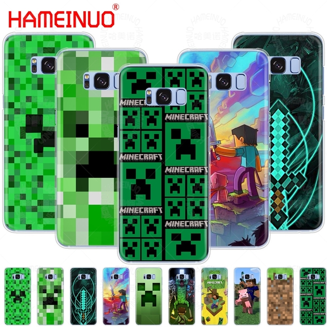 timeless design 6d4e7 ed799 US $2.48 |HAMEINUO Creeper Minecraft cell phone case cover for Samsung  Galaxy S9 S7 edge PLUS S8 S6 S5 S4 S3 MINI-in Half-wrapped Case from  Cellphones ...