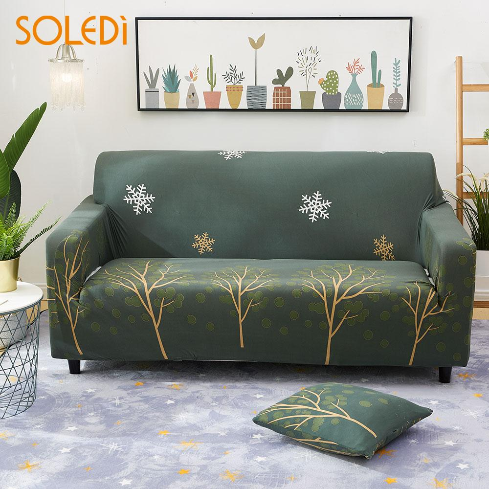 2018 Sofa Covers Reversible 1/2/3 Seater Settee Protector Easy Fit Green Home Decor Slipcover Drop Shipping