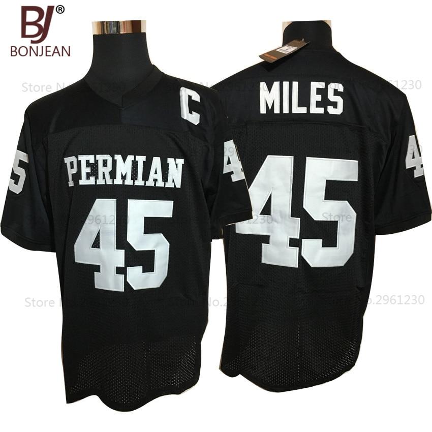 BONJEAN Cheap Boobie Miles 45 <font><b>Friday</b></font> <font><b>Night</b></font> <font><b>Lights</b></font> American Football Jerseys Throwback Stitched Black Mens Jersey