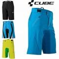Qualidade superior Calções CUBE Mtb Downhill Ciclismo Shorts Homens Rocha Corrida de Mountain Bike Shorts Quick Dry Culote Ciclismo Hombres