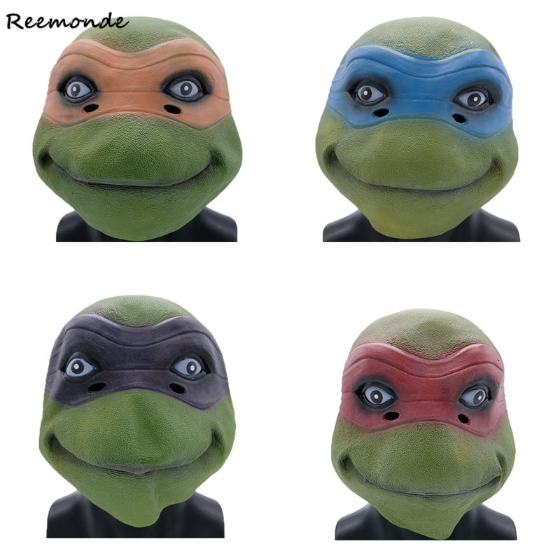 Anime Teenage Mutant Ninja Turtles Mask Cosplay Leonardo Donatello Boys Toys Shell Prop Set For Kids Party Halloween Cosplay