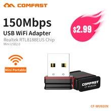 COMFAST 150 Мбит Мини Беспроводной USB WiFi адаптер ключ сети LAN Card 802.11n PC приемник для MAC WindowsXP/7/8/10 Vista Linux