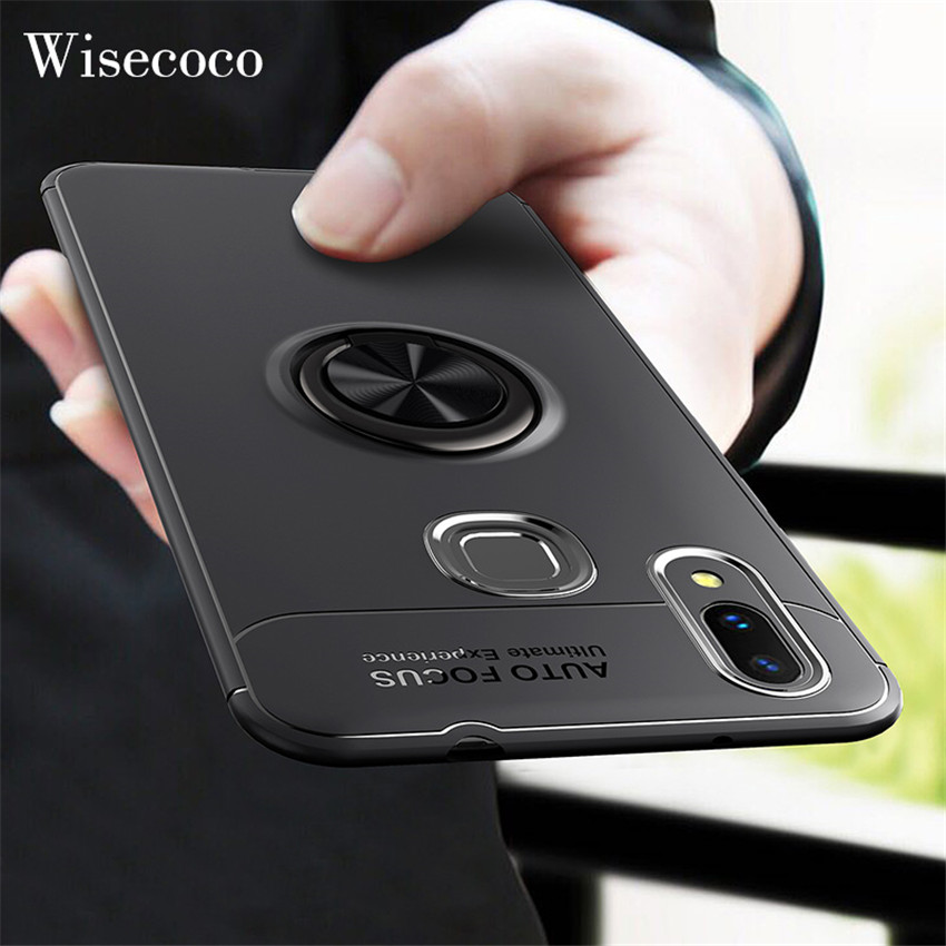 Case for <font><b>Xiaomi</b></font> Mi 9 8 Se 6 6X 5X A1 A2 Lite Max 3 Mix 2 2S Car Holder Stand Magnetic Finger Ring for Redmi S2 4 <font><b>Note</b></font> <font><b>7</b></font> 5 6 Pro image