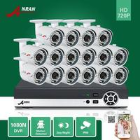ANRAN 16CH HD 1080N HDMI AHD DVR 720P 1800TVL CCTV Day Night Home Surveillance Security Camera