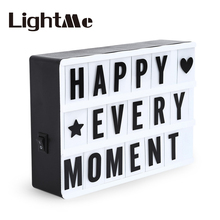 2017 Premuim A4 A6 Combination LED Night Light Box Night Lamp DIY BLACK Cards Letter Light LED USB PORT Powered Cinema Lightbox