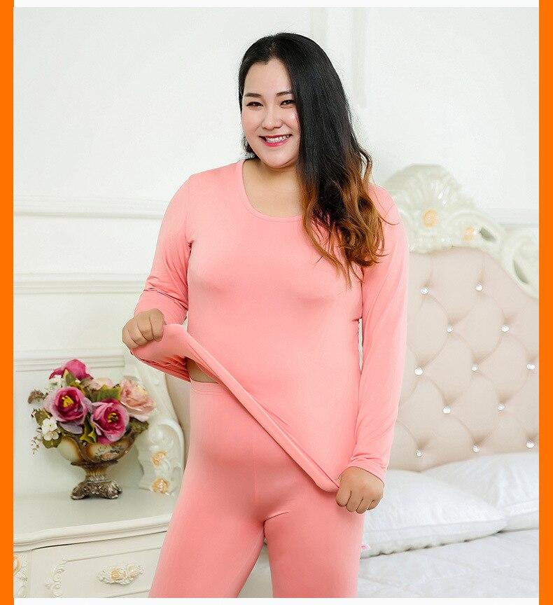 Jerrinut Thermal Underwear Women Plus Size 6XL Winter Clothing Suit Long Johns Women For Winter Thermal Underwear Winter Female 16 (2)