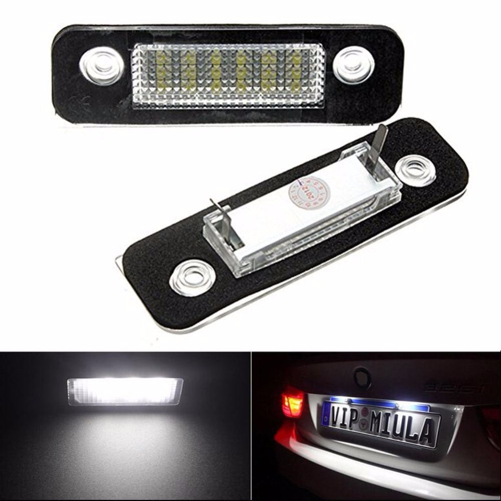 1 Pair DC12V 18 SMD LED License Number Plate Lamps Light For Ford Mondeo MK2 Car Number Light Sourcing External Replace Bulbs 2 pair super white 6000k canbus error free smd chip car led license plate light auto lamp number for ford mondeo mk ii 96 00