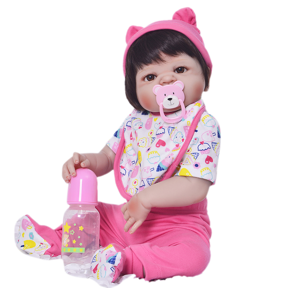 Здесь продается  Magnetic Mouth Realistic Reborn Baby Dolls Silicone Full Vinyl Body 23 Inch So Truly Girl Babies Doll Lifelike 57 cm bebe Toy  Игрушки и Хобби