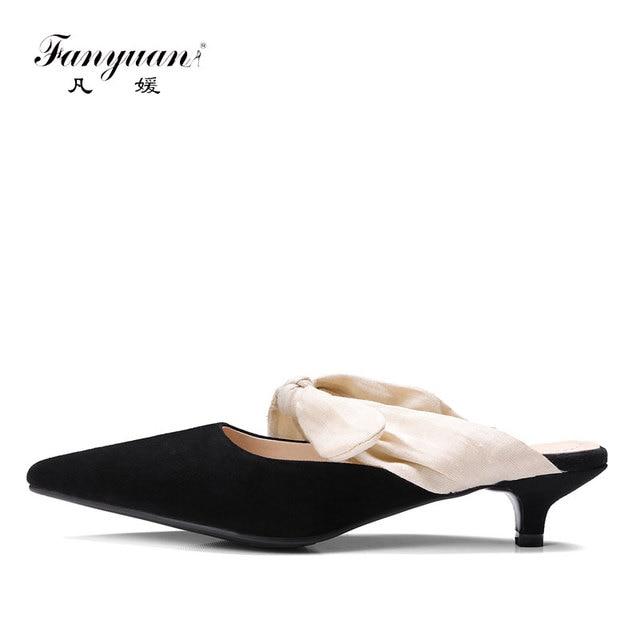 Fanyuan Лето 2017 г. модные женские туфли-лодочки шпильки сандалии высокое  качество замшевые 66e732ff3a8