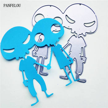 PANFELOU extra-terrestrial metal craft paper die cutting dies Scrapbooking/DIY Easter wedding Embossing mould cards image