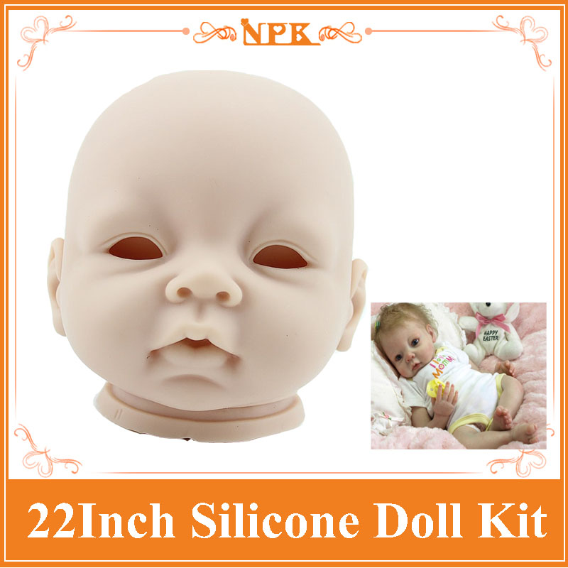 Real Touch Reborn Baby Doll Kit For 22'',3/4 Arms And Legs Reborn Baby Doll Made By Silicone Vinyl Safety Material Lifelke Doll good price reborn baby doll kits for 17 baby doll made by soft vinyl real touch 3 4 limbs unpainted blank doll diy reborn doll