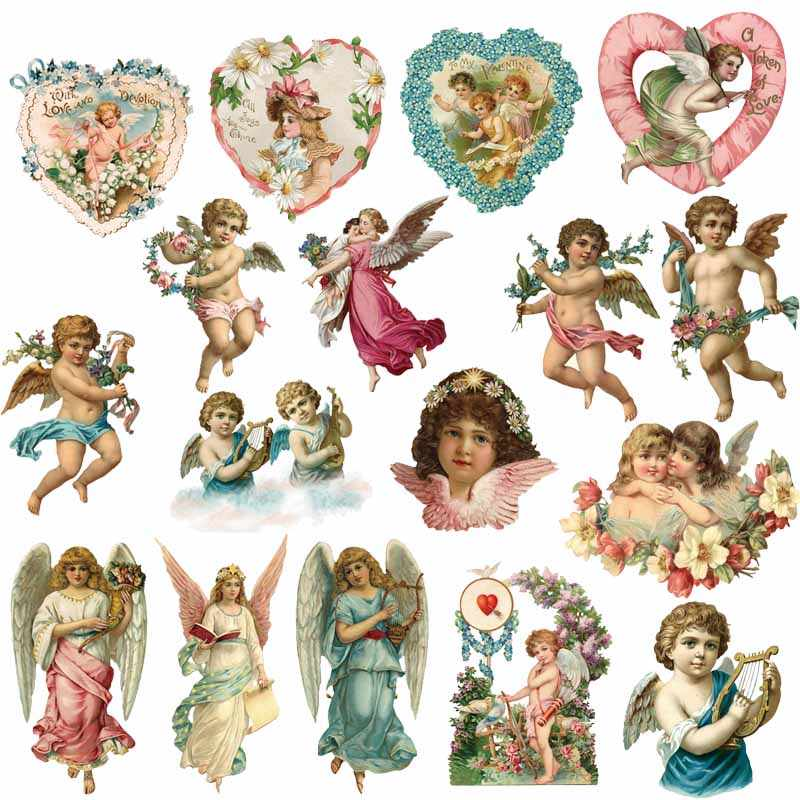 Iron on Angel Patches for Kids Clothing DIY T-shirt Dresses Applique Heat Transfer Vinyl Washable wings Stickers Thermal Press