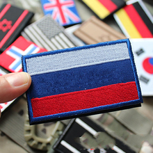 Creative Countries Embroidered Flag Army Badge Sticker 3D Tactical Military Fabric Cloth Stickers Armband National Flag Badge