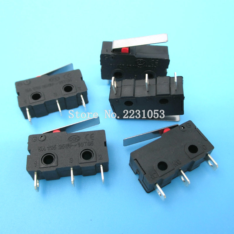 10PCS/LOT Limit Switch 3 Pin N/O N/C High Quality All New 5A 250VAC KW11-3Z Micro Switch